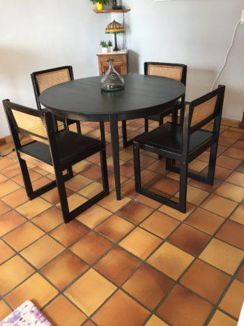 peinture table chaises